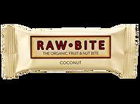 Die leckeren Raw Bite Riegel mit Kokosnuss kommen von der gleichnamigen Firma aus Dänemark. Jetzt günstig bei kokku, deinem veganen Onlineshop, kaufen!