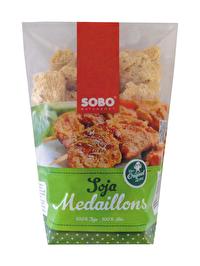 Die SOBO Soja Medaillons zeichnen sich durch ihre Premium-Qualität, ihren neutralen, leicht nussigen Geschmack und hervorragende Konsistenz aus. Jetzt günstig bei kokku im Veganshop bestellen!