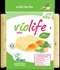 Violife Scheiben Kräuter ist der perfekte vegane Schmelz für Liebhaber würziger Kräuter. Die Schmelzscheiben können auch als Toast oder Pizzabelag verwendet werden.