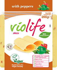 Die Paprikascheiben von Violife sind für Freunde von frischem, feurigen Paprika einfach unerlässlich - Jetzt günstig im Veganshop bei kokku kaufen!