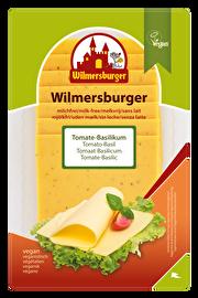 Die Wilmersburger Scheiben Tomate-Basilikum bringen Pepp in die geschmackvolle Käsealternative. Jetzt im veganen Onlineshop von kokku!