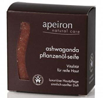 Ashwaganda Pflanzenölseife 3in1 von apeiron günstig bei Kokku im Veganshop kaufen!