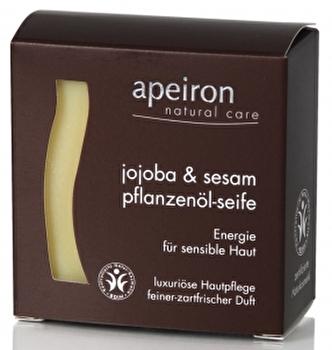 Jojoba & Sesam Pflanzenölseife 3in1 von apeiron günstig bei Kokku im Veganshop kaufen!