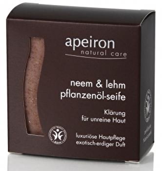 Neem & Lehm 3in1 Seife - Klärung für unreine Haut von apeiron günstig bei Kokku im Veganshop kaufen!