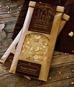 Weiße Schokolade °Knusper GeNüsse° von Bernsteinzimmer günstig bei Kokku im Veganshop kaufen!