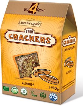 Raw Snacks Cracker Mandeln von go4raw günstig bei Kokku im Veganshop kaufen!