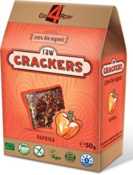 Raw Cracker Paprika von go4raw günstig bei Kokku im Veganshop kaufen!