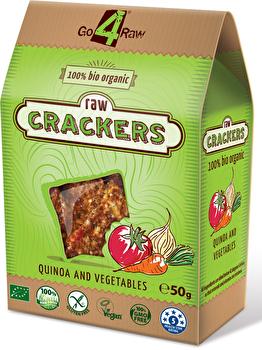 Raw Cracker Quinoa & Karotten von go4raw günstig bei Kokku im Veganshop kaufen!