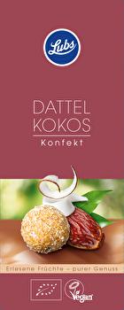 veganes Dattel Kokos Konfekt von Lubs preiswert bei kokku im veganen Onlineshop kaufen!