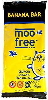 Schokoladenriegel mit knusprigen Bananen-Chips von Moo Free bei kokku kaufen.
