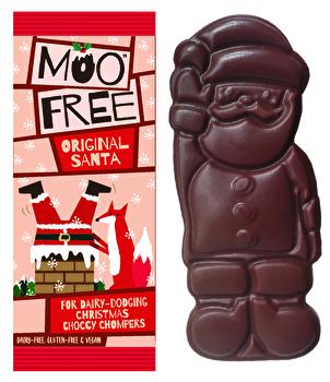 Moo Free Weihnachtsmann aus feinster veganer Bio-Schokolade