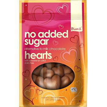 Schokoladen Herzen zuckerfrei von Plamil günstig bei Kokku im Veganshop kaufen!