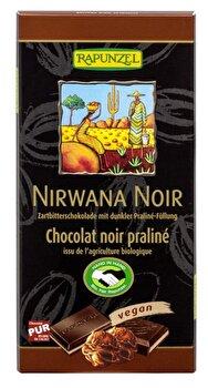 Nirwana Noir 55% mit dunkler Praliné-Füllung von Rapunzel günstig bei Kokku im Veganshop kaufen!