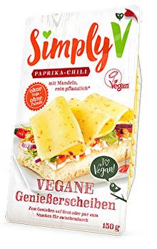 Vegane Genießerscheiben Paprika Chili von simply v günstig bei Kokku im Veganshop kaufen!