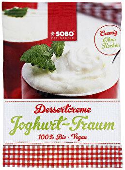 Die frische Sobo Dessertcreme Joghurt Traum ist ideal als Nachtisch oder auch zum genießen an einem entspannten Sommertag.