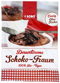 Die Schoko Traum Dessertcreme von Sobo verführt lockerleicht und schokoladig lecker zum Schlemmen nach Herzenslust.