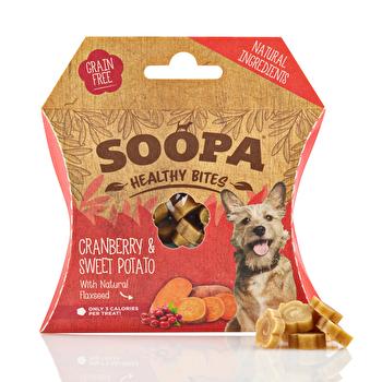 Die Healthy Bites Cranberry & Sweet Potato von Soopa sind ideal, wenn Du deinen Hund gesund belohnen willst! Jetzt günstig bei k