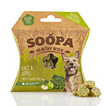 Die Healthy Bites Kale and Apple von Soopa sind kleine Leckerlies für Deinen Hund, der sie garantiert lieben wird! Jetzt günstig