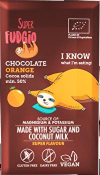 Die °Chocolate Orange° von Superfudgio verfügt mindestens über 50% Kakaoanteil und schmeckt herrlich nach frischen Orangen! Jetz
