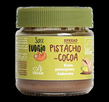 Die °Pistachio-Cocoa°-Schokocreme von Superfudgio ist einmalig im Geschmack! Jetzt preiswert bei kokku im veganen Onlineshop bes