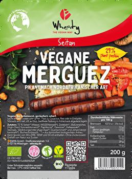 Veganwurst Merguez von Wheaty preiswert bei kokku im veganen Onlineshop kaufen!