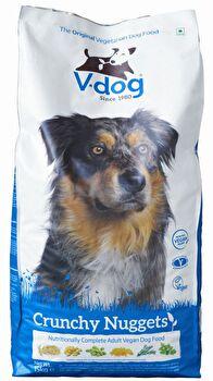 Crunchy Nuggets veganes Hunde Trockenfutter von V-dog günstig bei kokku im veganen Onlineshop kaufen!