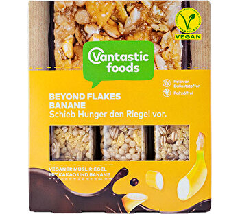 Beyond Flakes Müsliriegel Schoko Banane von Vantastic Foods bei kokku im Veganshop preiswert bestellen!
