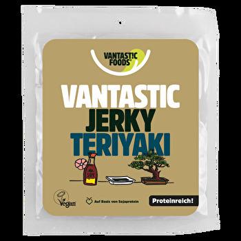 Veganes Trockenfleisch Soy Jerky Teriyaki von Vantastic Foods preiswert bei kokku im veganen Onlineshop kaufen!