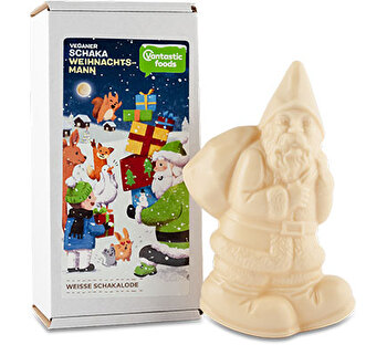 Weisse Schakalode veganer Weihnachtsmann von Vantastic Foods bei kokku kaufen.