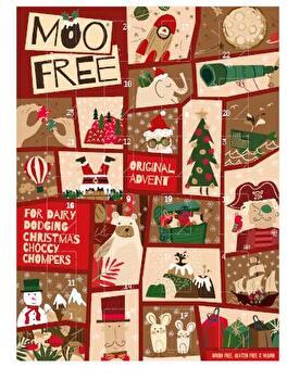 Moo Free veganer Adventskalender mit Bioschokolade - der günstige und farbenfrohe Adventskalender für die Kleinen