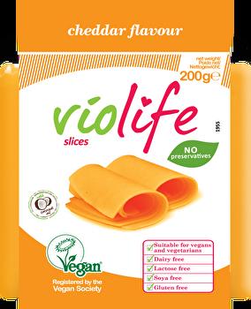 vegane Schmelz-Scheiben Cheddar von Violife preiswert bei kokku im veganen Onlineshop kaufen!