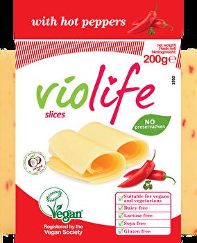 vegane Käsealternative Scheiben Chilli von Violife preiswert bei kokku im veganen Onlineshop kaufen!