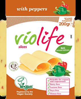 vegane Käsealternative Paprika Scheiben von Violife preiswert bei kokku im veganen Onlineshop kaufen!