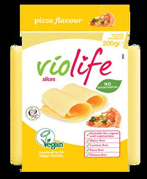 vegane Schmelz Pizza Scheiben von Violife preiswert bei kokku im veganen Onlineshop kaufen!