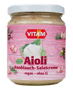 °Aioli° Knoblauch Mayonnaise ohne Ei von VITAM günstig bei Kokku im Veganshop kaufen!