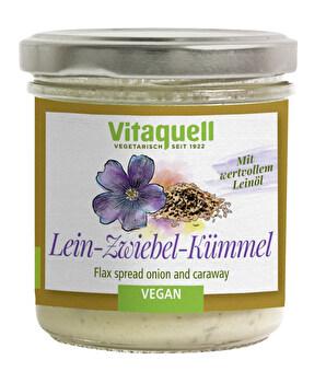 Zwiebel Kümmel Leinölaufstrich von Vitaquell günstig bei Kokku im Veganshop kaufen!