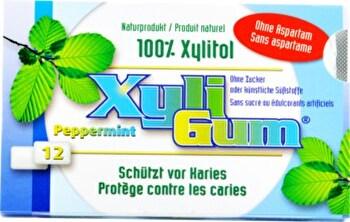 Den leckeren Xyli Gum Pfefferminze Kaugummi jetzt bei kokku-online.de kaufen!