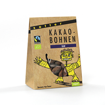 Kakaobohnen RAW von Zotter günstig bei Kokku im Veganshop kaufen!