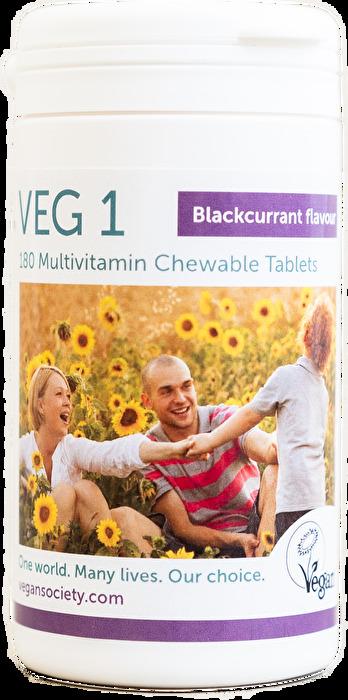 Veg 1 Schwarze Johannisbeere 180 Stk. von Vegan Society günstig bei Kokku im Veganshop kaufen!