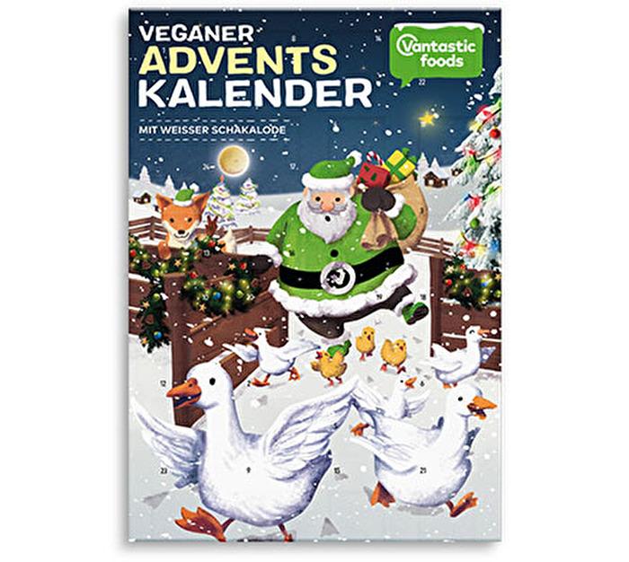 Veganer Adventskalender mit weißer Schokolade bei kokku kaufen!