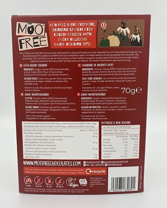 Moo Free veganer Adventskalender bei kokku veganen Onlineshop kaufen