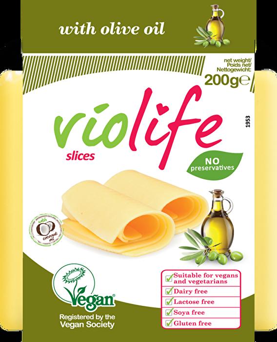 veganer Kääse Scheiben Olivenöl von Violife günstig bei kokku im veganen Onlineshop kaufen!