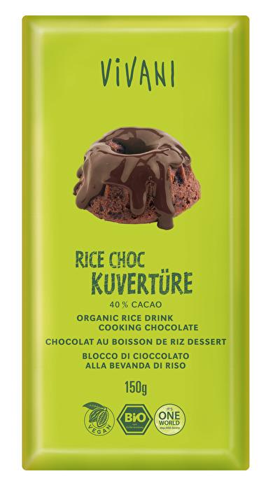 vegane Rice Choc Kuvertüre 40% von Vivani preiswert bei kokku im veganen Onlineshop kaufen!